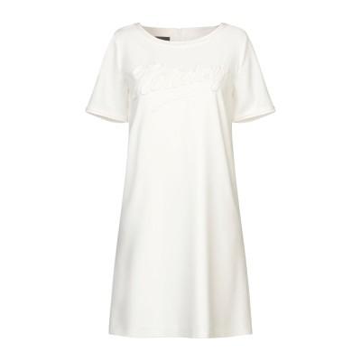 BOUTIQUE MOSCHINO ミニワンピース&ドレス ホワイト 40 ポリエステル 92% / ポリウレタン 8% ミニワンピース&ドレス