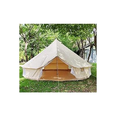 家族旅行パーティーやハンティングキャンプ用パオテント用の屋外キャンバス防水ベルテント4シーズンテント (直径3メートル)