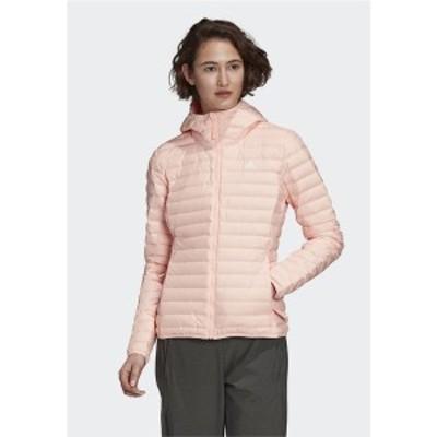 アディダス レディース ジャケット&ブルゾン アウター VARILITY SOFT HOODED OUTDOOR DOWN JACKET - Soft shell jacket - pink pink