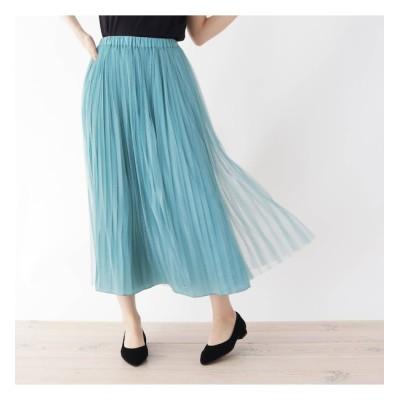 【シューラルー/SHOO・LA・RUE】 【M-L】リバーチュール×プリーツ2WAYスカート