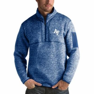 """メンズ ジャケット """"Air Force Falcons"""" Antigua Fortune 1/2-Zip Pullover Sweater - Heathered Royal"""