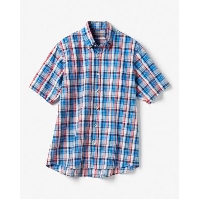 オーガニックコットンチェックシャツ/半袖