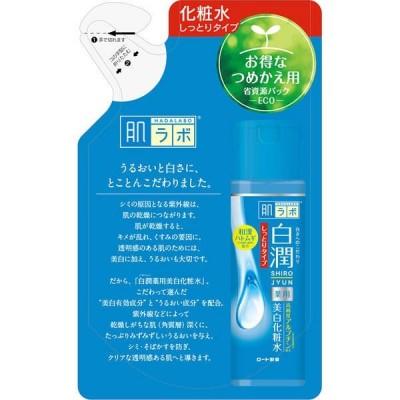 肌ラボ 白潤 薬用美白化粧水 しっとりタイプ 詰替え 170mL トラネキサム酸 シミ そばかす 無着色 無香料 ロート製薬