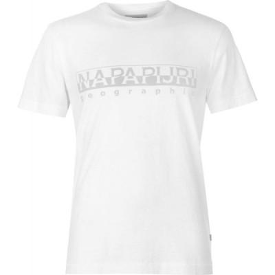 ナパピリ Napapijri メンズ Tシャツ ロゴTシャツ トップス Sevora Tonal Logo T Shirt White