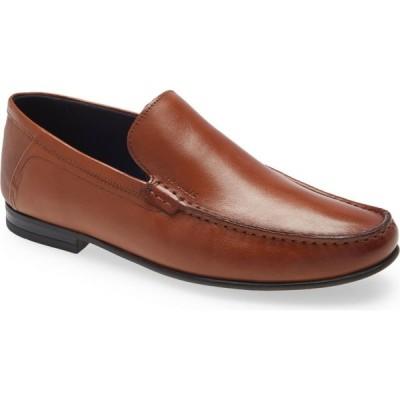 テッドベーカー TED BAKER LONDON メンズ ローファー モックトゥ シューズ・靴 Lassity Moc Toe Loafer Tan