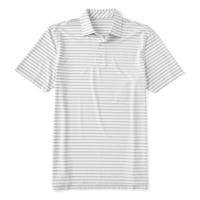 サウザーンタイド メンズ ポロシャツ トップス BRRR-Eeze Heather Stripe Performance Short-Sleeve Polo Shirt Seagull Grey
