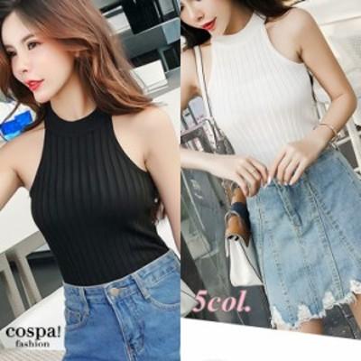 サマーニット レディース Tシャツ ノースリーブ サマーセーター ニット カットソー 韓国 安い 10代 20代 30代