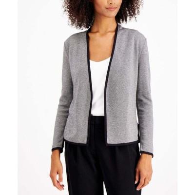 アルファニ Alfani レディース アウター Petite Birdseye Blazer Sweater Black Stone