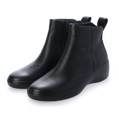 エコー ECCO ECCO SOFT 7 WEDGE W Boot (BLACK/BLACK)