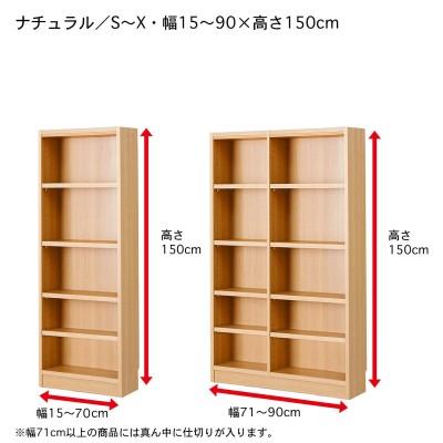 【幅1cmピッチ・高さサイズオーダー】3色から選べる!シンプル浅型ラック(奥行19cm)