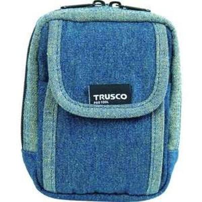 TRUSCO デニム携帯電話用ケース 2ポケット ブルー(品番:TDC-H101)『7689900』