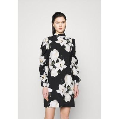 オブジェクト レディース ワンピース トップス OBJCASANDRA SHORT DRESS  - Day dress - black black