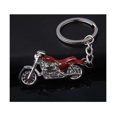 バイク オートバイ ハーレー ダビットソン キーケース キーホルダー キーリング キーチェーン チャーム メタル 金属 赤