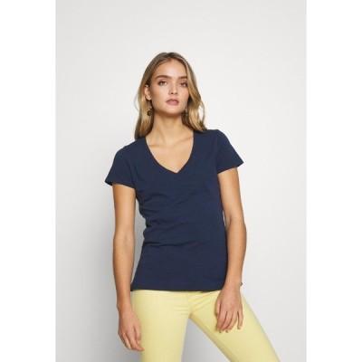 モス モッシュ Tシャツ レディース トップス ARDEN V NECK TEE - Basic T-shirt - navy