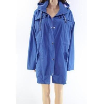 ファッション 衣類 Soteer NEW Blue Striped Hooded Womens Size XL Windbreaker Jacket