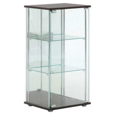 不二貿易 ガラスコレクションケース 3段(背面ミラー付き) TMG-G02 96048 返品種別A
