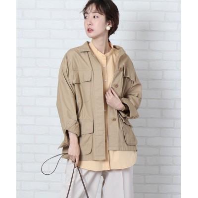 【コーエン】 リップストップミリタリーシャツジャケット レディース BEIGE FREE coen