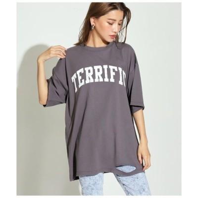 tシャツ Tシャツ カレッジロゴダメージビッグTシャツ