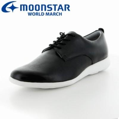 送料無料 ムーンスター ワールドマーチ レディース ウォーキングシューズ 靴 WL1501 ブラック 超軽量 ラウンドヒール
