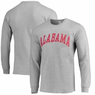 New Agenda ニュー アジェンダ スポーツ用品  Alabama Crimson Tide Vertical Arch Long Sleeve T-Shirt - Gray