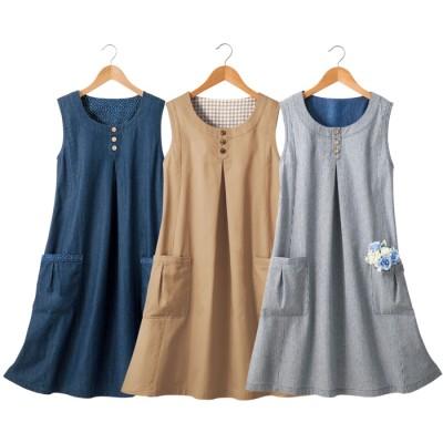 チュニック  ベルーナ 【3色組】すっぽり着るだけ!毎日可愛いチュニック ベージュ LL-3L レディース