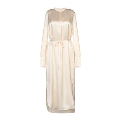 VINCE. 7分丈ワンピース・ドレス アイボリー 8 シルク 100% 7分丈ワンピース・ドレス