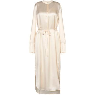 VINCE. 7分丈ワンピース・ドレス アイボリー 2 シルク 100% 7分丈ワンピース・ドレス