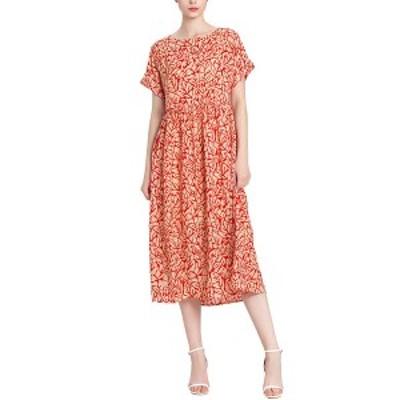 バーリコ レディース ワンピース トップス BURRYCO Dress red and apricot