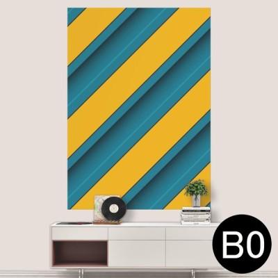 ポステッカー ポスター ウォールステッカー シール式ステッカー 飾り 1030mm×1456mm B0 写真 フォト 壁 黄色 青 ブルー 模様 006637