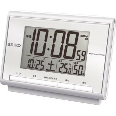 セイコー 温・湿度表示付 電波目覚まし時計 SQ698S
