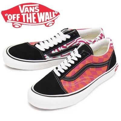VANS (ヴァンズ バンズ) VN0A4UUI22A Old Skool Twist オールドスクール スニーカー (Warp Checker) Black x Cabaret VN265