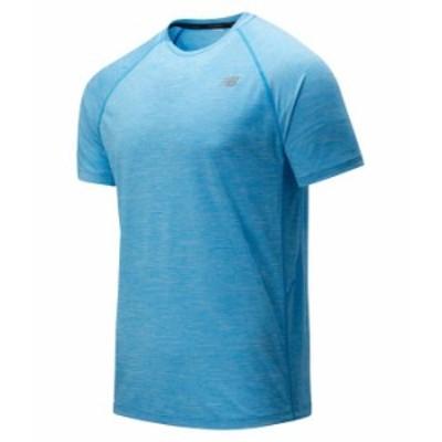 ニューバランス メンズ シャツ トップス Tenacity Short Sleeve Tee Vision Blue