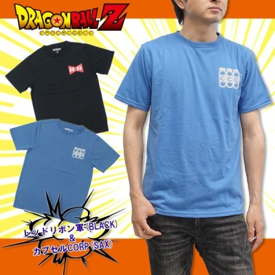 ドラゴンボールZ アイコン Tシャツ レッドリボン軍 カプセルコーポレーション 半袖 メンズ キャラクター ジャンプ