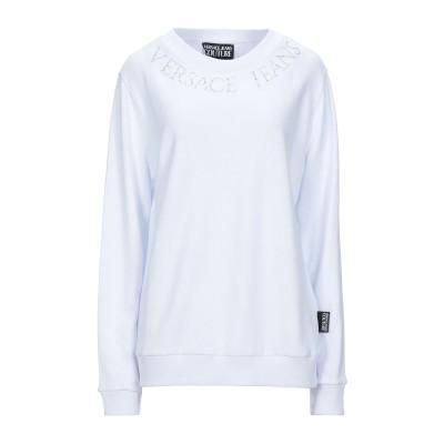 VERSACE JEANS COUTURE スウェットシャツ ホワイト XXS コットン 100% スウェットシャツ