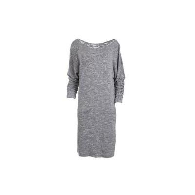 スリードッツ ドレス ワンピース Three Dots 5953 レディース グレー Heatheレッド ドロップ Waist セータードレス S BHFO