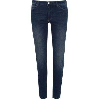 アルマーニ Armani Exchange レディース ジーンズ・デニム スキニー ボトムス・パンツ J01 Skinny Jeans Mid Blue