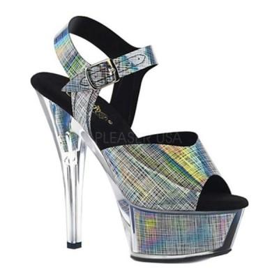 プリーザー サンダル シューズ レディース Kiss 208N CRHM Heeled Sandal (Women's) Black Hologram TPU/Black Hologram Inserts