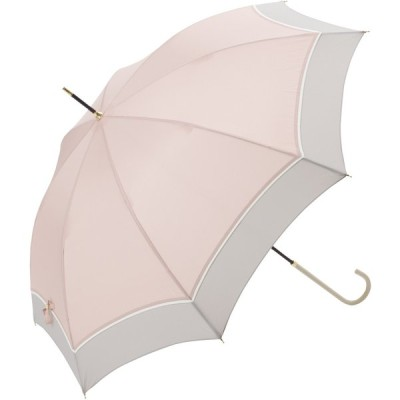 長傘 雨傘 プレーンバイカラー 55cm ピンク BE-18638-PK 1本