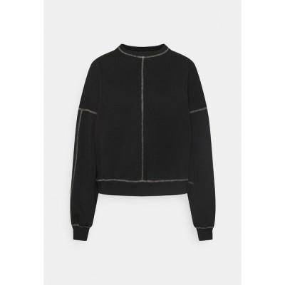 ニリーバイネリー パーカー・スウェットシャツ レディース アウター CONTRAST SEAM - Sweatshirt - black