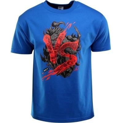BAIT メンズ Tシャツ トップス x Street Fighter Akuma VS Ryu Tee - Long Vo blue/royal blue/black