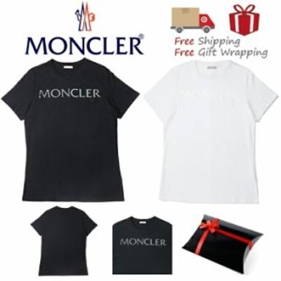 【送料無料!早い者勝ち!】MONCLER(モンクレール)Tシャツ レディース ブラック ホワイト 新品・本物保証ギフト ラッピング プレゼン