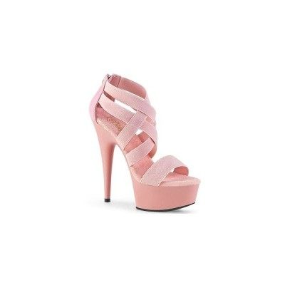 レディース シューズ ハイヒール プリーザー pleaser DELIGHT-669 B. Pink Elastic Band-Faux Le/B. Pink Matte  お取り寄せ商品