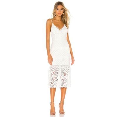 ラヴァーズフレンズ Lovers + Friends レディース ワンピース ミドル丈 ワンピース・ドレス Tilly Midi Dress White