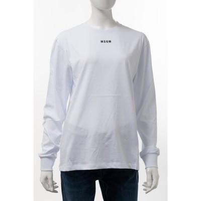 エムエスジーエム MSGM ロングTシャツ ロンT 長袖 丸首 クルーネック 2941MDM82 207798 01 レディース 2941MDM82207798 ホワイト 2020年秋冬新作