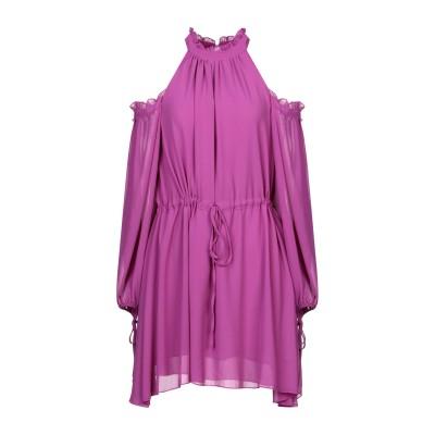 WEILI ZHENG ミニワンピース&ドレス パープル M ポリエステル 100% ミニワンピース&ドレス