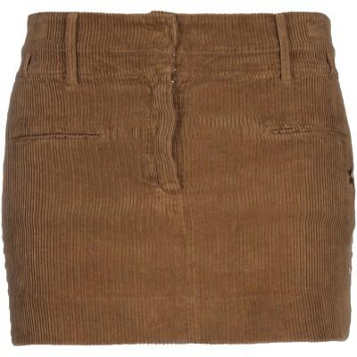 ジ・エディター THE EDITOR ミニスカート ブラウン 42 コットン 97% / ポリウレタン 3% ミニスカート