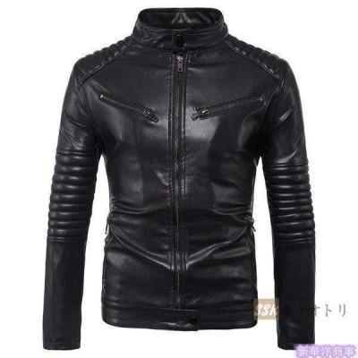 バイクジャケット ジャケット メンズ 立ち襟 バイクウェア 革ジャン ライダースジャケット 防風 防寒 おしゃれ