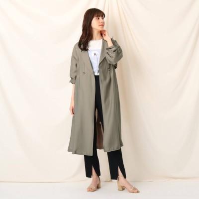クチュール ブローチ Couture brooch シアーロングコート (タバコブラウン)