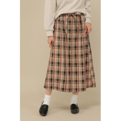 【イッカ/ikka】 モールチェックナロースカート
