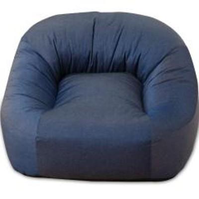 EMOOR(エムール)送料無料 一人掛けソファ 省スペースサイズ ネイビー 座椅子 マフィー 日本製 シンプル ワンルーム フロアライフ フロアソファ 北欧 テレワーク 在宅 在宅勤務 巣ごもり